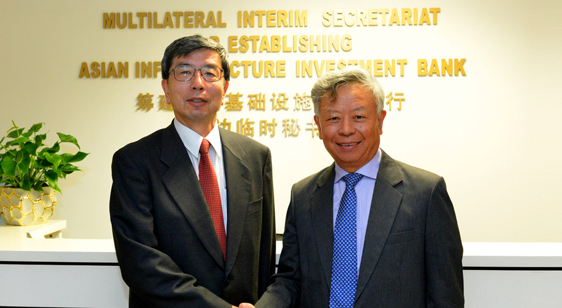 AIIB Multilateral Interim Secretariat and the Asian Development Bank to Deepen Cooperation: Projects for Cof<span>i</span>nancing to be Identified