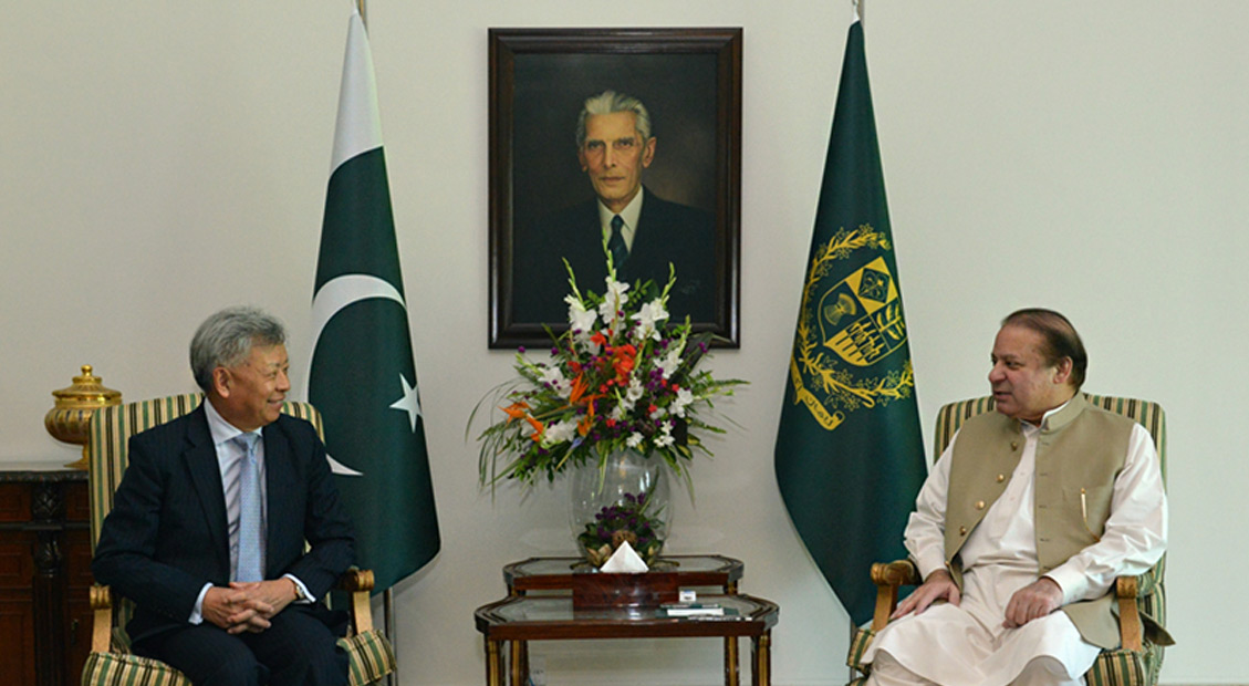 President-designate Jin meets Prime Minister Sharif and Finance Minister Dar of Pakistan
