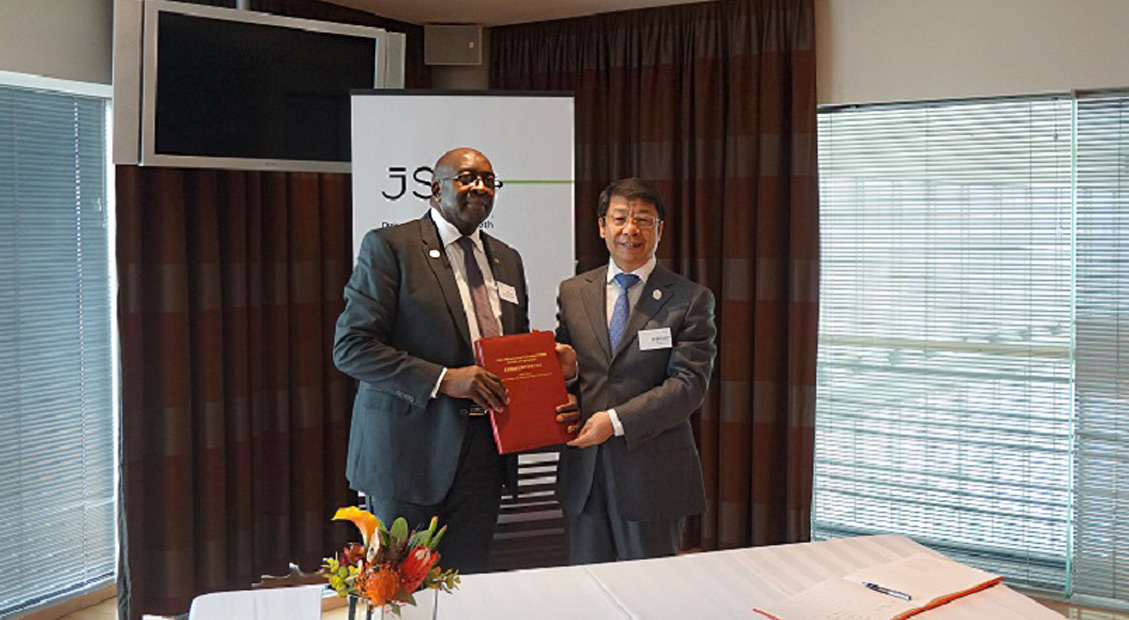 Mr. Nhlanhla Nene, Minister of Finance of South Africa signed the Articles of Agreement of the Asian Infrastructure Investment Bank