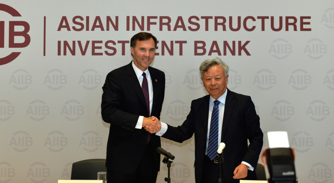 President Jin Welcomes Canada's Decision to Apply for Membership in AIIB