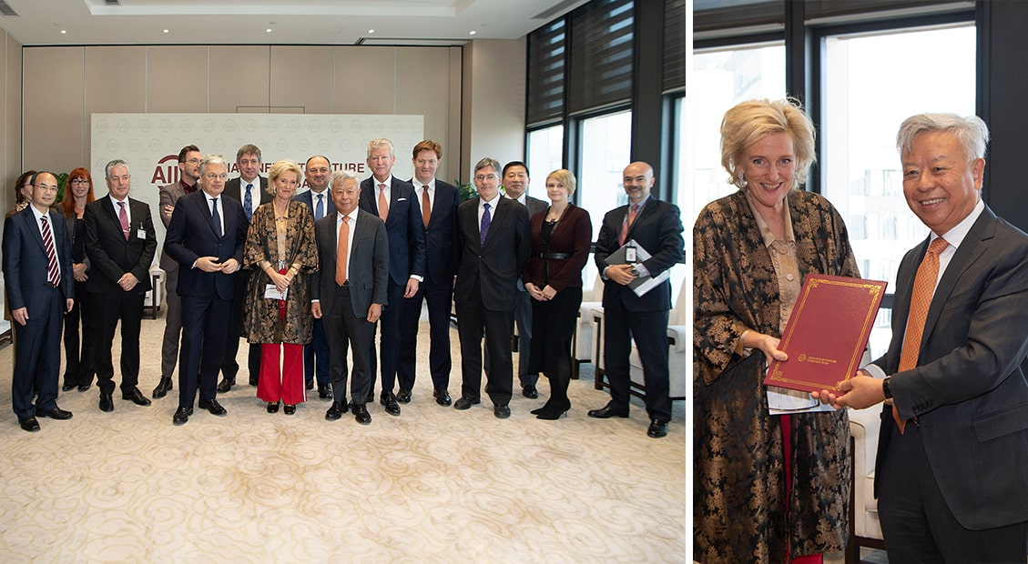 AIIB President Welcomes HRH Princess Astrid of Belgium, Representative of His Majesty the King, and Belgian Business Delegation to Beijing Headquarters